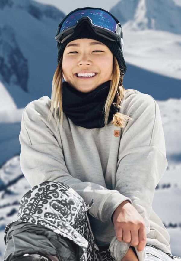 <strong>Chloe Kim</strong>Olympic Gold Medalist Snowboarder.
